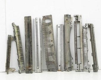 10 Salvaged Vintage Typewriter Parts Repurpose Altered Art Steampunk Assemblage Supply