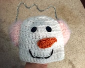 Ready to ship snowman hat size newborn to 3 months.