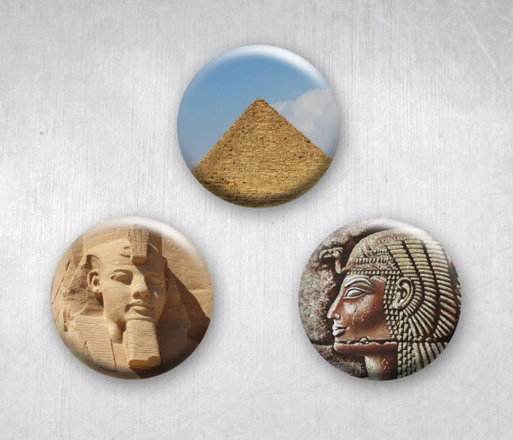 Ancient Egyptian Art Photos Pinback Buttons by Sherrie Thai of Shaireproductions