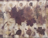 Autumn Leaves on silk II