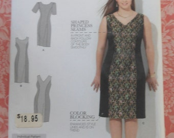 Dress Sewing Pattern Simplicity 1586 UNCUT Sizes 20w-28w Plus Size Amazing Fit Collection