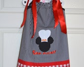 Chef Mickey Pillowcase Dress (extra for personalization)