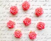 Push Pins - Decorative Push Pins - Office Supplies - Office Accessories - Flower Push Pins - Office Decor - Cute Push Pins - Pushpin - Coral