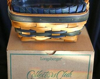 Lovely Longaberger Collectors Club Basket Set--HARD FIND--Vintage  15% off all 40 dollar and under vintage listings
