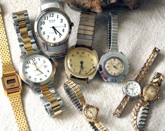 Ladies Wrist Watch Lot of 8 - Wrist Watches for Parts