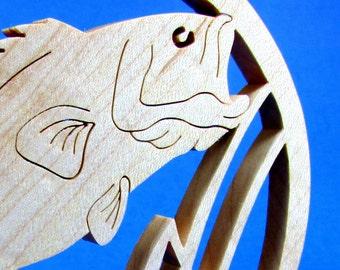 Bass / Wild Life / Ornament / Sun Catcher / Hard Maple Wood