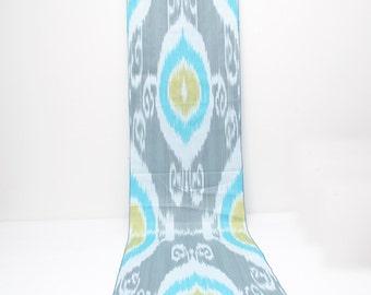 Blue gray, khaki, cotton ikat fabric, ikat fabric, ikats, uzbek ikat, blue ikat, blue gray ikats, cotton ikat, ikats, ikat textiles, Uzbek