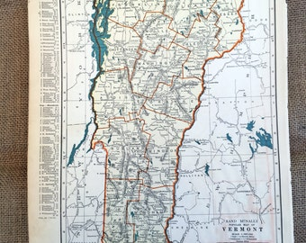 Antique Utah Map Etsy - Old us map