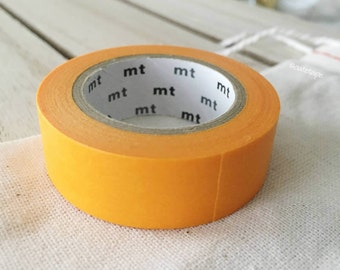 Solid Sunflower Yellow Orange Washi Tape Japanese Sunflower yellow Orange masking tape (194) - PrettyTape