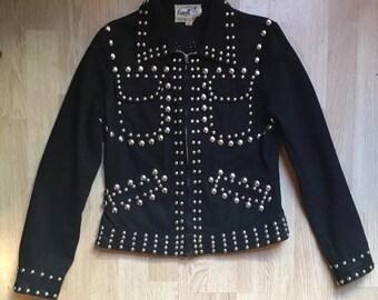 Roncelli Studded Motorcycle Denim Jacket Kate Moss