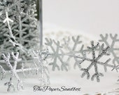 Silver Snowflakes Ribbon by the yard Christmas Ribbon, Gift Wrapping, Weddings, Frozen, Costumes, Silver Snowflake Trim, Baby Halos/Headband