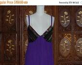 ON SALE Vintage 1970s Rainbow Sequin Maxi Dress