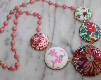 Liberty of London Button Statement Necklace