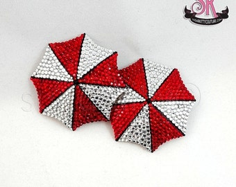 ON SALE RTW Umbrella Corp Rhinestone Pasties - Size M - SugarKitty Couture