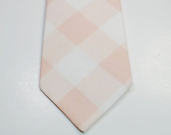 Blush Neckties Blush Wedding Neckties Mens Neckties Weddings Custom Neckties Cotton Neckties Light Pink Neckties