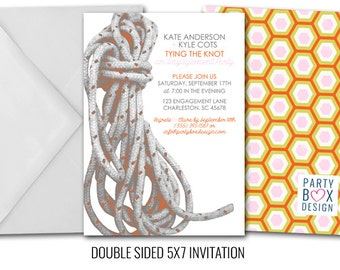 Tying the Knot Bridal Shower or Engagement Party Invite (20 printed)