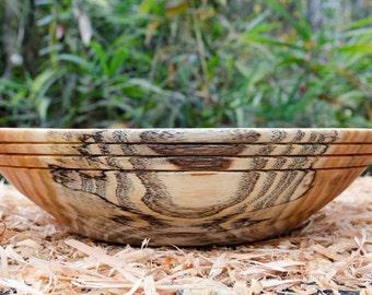 Wood Bowl, Salad bowl, Bread bowl, Fruit bowl, Decorative Ring Honey Locust, Centerpiece,