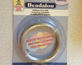 Beadalon German-style Wire 22 Gauge Silver Plated