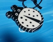 Swing Ladybug Chunky Tiki Medallion Necklace