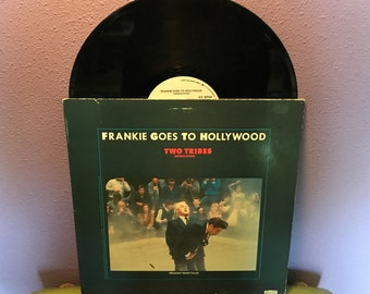 """FINAL SALE Vinyl Record Frankie Goes To Hollywood - Two Tribes 12"""" 45 Maxi Single 1984 Dance Classic"""