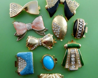 Mix Clasps for Jewelry, vintage 1970s, elegance and originality to your jewelry - 10 Pieces -Art.419/2-