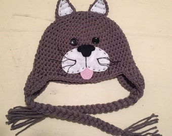 Cat, Cat Hat, Kitten hat, Kitten, Kitty Cat, Cat Cap Hat ALL sizes from Newborn  to Adult