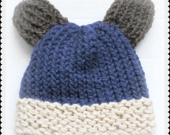 Baby Bear Hat Loom Knit Pattern