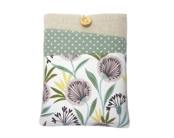 iPad Mini Sleeve, Kindle Case, iPad Mini Case, Kindle Paperwhite, Kindle Voyage, Nook Touch, Kindle Cover, Floral eReader Case, Dandelions