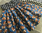 Girls Skirt Blue Football