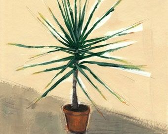 SECONDS SALE . Small Yucca . giclee print