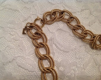 Vintage Pierre Cardin Gold Necklace ~ Chunky Designer Necklace ~ Ladies Vintage Jewelry ~ Thick Double Chain ~ Costume Jewelry ~ Gift 4 Mom