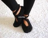 Knit Slippers, Ballerina Slippers, Wool Slippers, Handmade Slippers, House Slippers, Womens Slippers