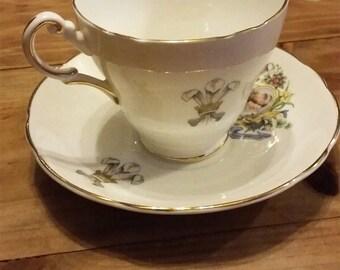 Royal Wedding commemorative tea cup and saucer set