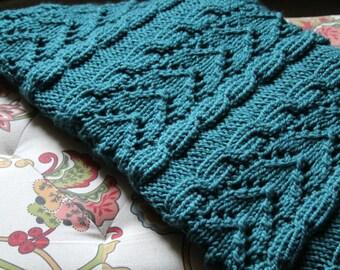 Knit Afghan Pattern, Cozy Blanket, Knitting Pattern, Knitted Blanket Pattern, Entwined, Knit Blanket Pattern, Knitted Pattern, Knitting