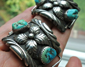 Turquoise Sterling Watch Tips