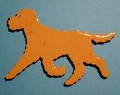 Goldendoodle or Labradoodle Pin, Magnet or Ornament- Color Choice- Free Shipping- Hand Painted