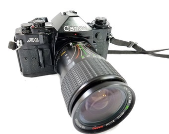 Canon A-1 SLR Camera with 28-75mm 1:3.5-4.5 Auto Zoom Macro Lens - Great Condition!