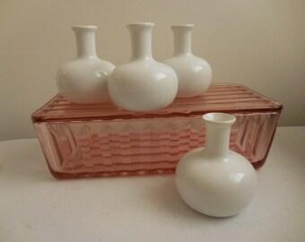 Four DANSK Bud Vases Original Box