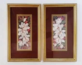 Home Interior Barbara Mock Magnolia Pictures Topiary Prints Gold Frames
