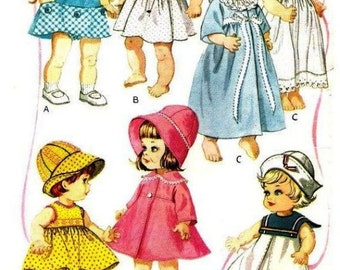 Sewing Pattern - Chatty Cathy Doll or similar 17 to 20 in doll wardrobe outfits
