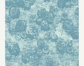SuperBowl Sale WONDERLAND by Katarina Roccella, Owly Blue  - AGF  1/2 Yard