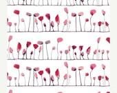 SuperBowl Sale WONDERLAND by Katarina Roccella, Petal Flamingoes Love - AGF  1/2 Yard