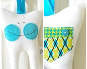 Tooth Fairy Pillow for a Boy (Argyle)-READY TO SHIP