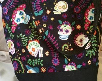 Sugar Skulls Dia de los Muertos Insulated Zip-up Lunch bag