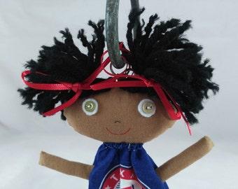 Texas Ranger Backpack Buddy, Rag Doll, Cloth Doll, Plush Toy, Soft Doll, Fabric Doll, Pocket Doll
