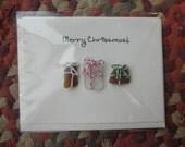 Christmas Gift One Card Lake Erie Ohio Beach Glass