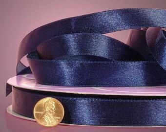 "1/4"" Satin Ribbon - Navy Blue"