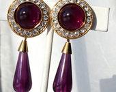 Vintage Dangle Rhinestone Earrings