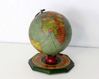 Metal World Globe 1930s / J CHEIN & CO.