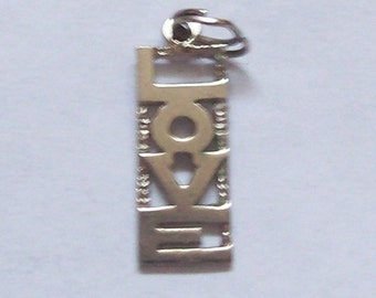 Hippie Love Sterling Silver Charm